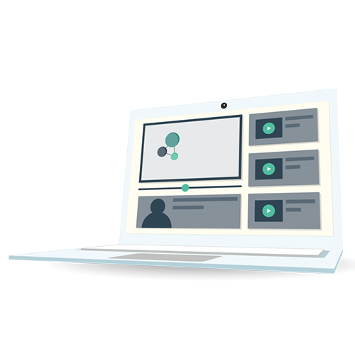eLearning solutions in a mobile device laptop