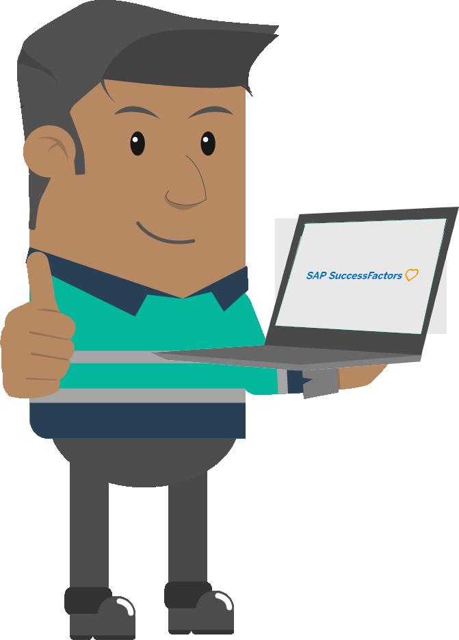 character kit holding laptop sap successfactors